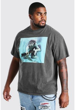 Charcoal Plus Size Kurt Cobain License T-Shirt