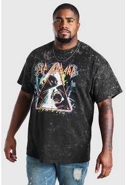 Camiseta con licencia de Def Leppard Big And Tall, Gris marengo gris