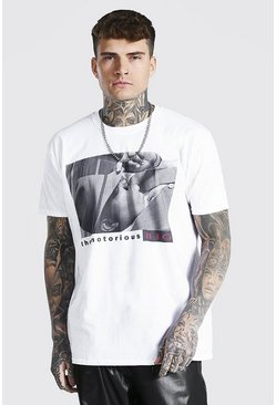 White Oversized The Notorious Big License T-shirt