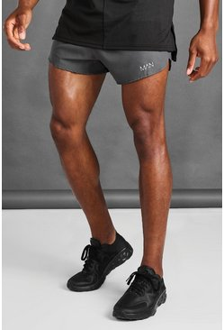 Charcoal grey MAN Active Woven Runner Shorts