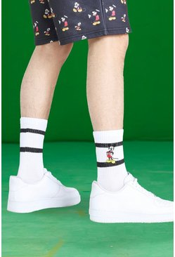 Multi Disney Mickey Embroidered 2 Pack Sports Socks