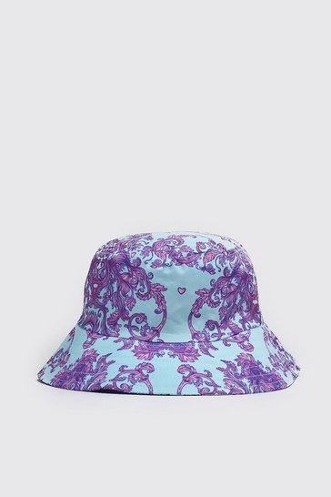 Pink Bandana Paisley Print Bucket Hat