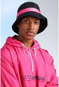 Pink MAN Official Printed Spliced Bucket Hat