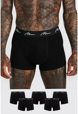 Black 5 Pack MAN Signature Mid Length Trunk