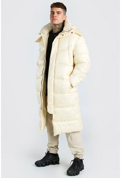 Off white white Longline Hand Filled Puffer In Matte Look