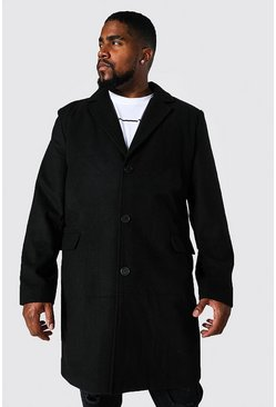 Chaqueta con botonadura simple Big and Tall, Negro