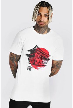 White Japan Graphic Print T-Shirt