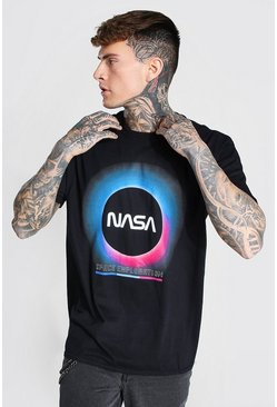 Black Oversized Nasa Eclipse License T-shirt