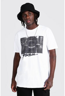 White Oversized Ty Dolla Sign License T-shirt