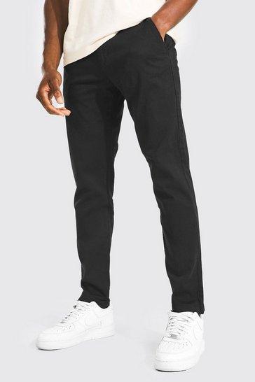 Black Skinny Fit Chino Trouser