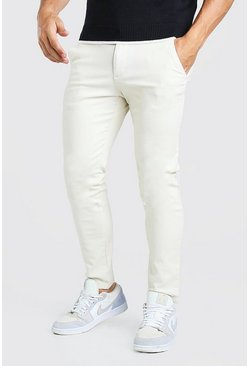 Steenrood beige Skinny fit chino broek