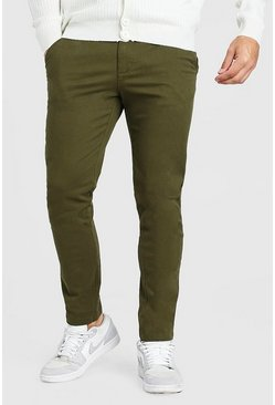 Khaki Skinny Fit Chino Trouser