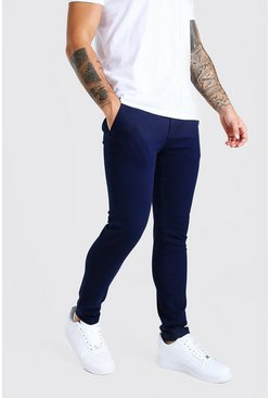 Navy Super Skinny Chino Trouser