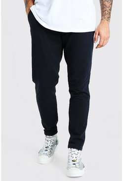 Black Tapered Fit Chino Trouser