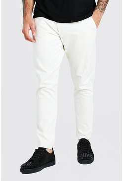Steenrood beige Tapered fit chino broek