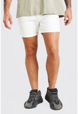 Slim-Fit Chino-Shorts, Steingrau beige