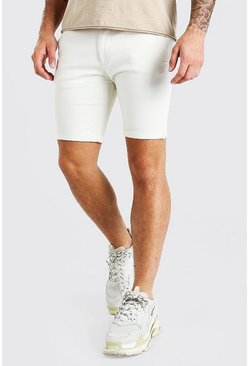 Short chino super skinny, Pietra beige