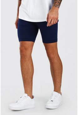 Super Skinny-Fit Chino-Shorts, Marineblau