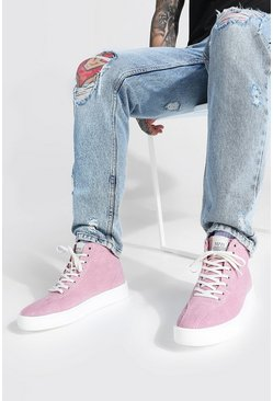 Pink Cord Branded High Top