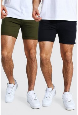 Multi Chinoshorts i skinny fit (2-pack)