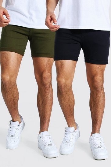Multi 2 Pack Skinny Fit Chino Short