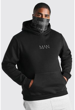 Black Plus Size Bandana Snood MAN Official Hoodie