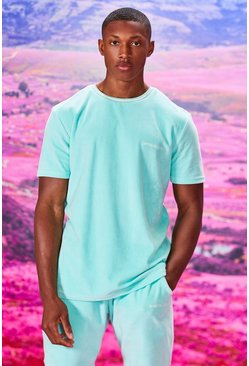 Mint green Official MAN Velour T-Shirt & Short Set