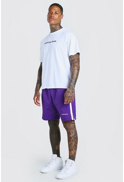 Purple Oversized MAN Official T-Shirt & Short Set