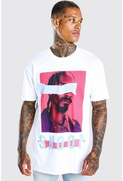 White Oversized Snoop Dogg License T-Shirt