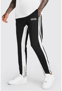 Black svart Official MAN Joggers i trikå och regular fit