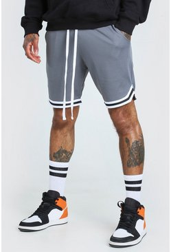Dark grey Airtex Basketball Shorts With Tape