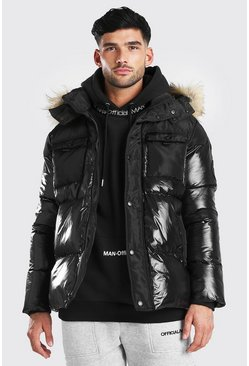 Black Matte/High Shine Parka