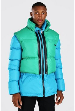 Blue 2 In 1 Puffer (With Removable Gilet)