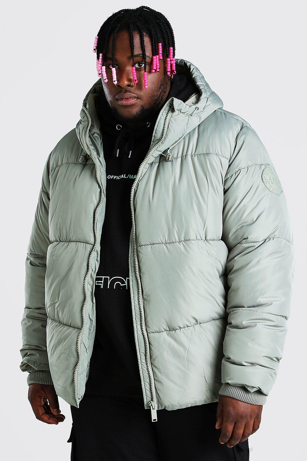 SALE Plus Size Hooded Toggle Detail Puffer