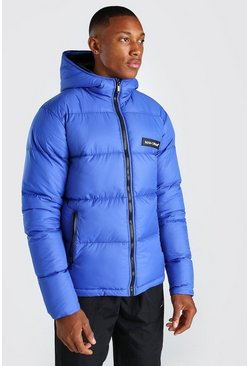 Blue MAN Branded Hand Filled Puffer