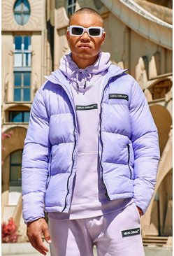 Lilac purple MAN Branded Hand Filled Puffer