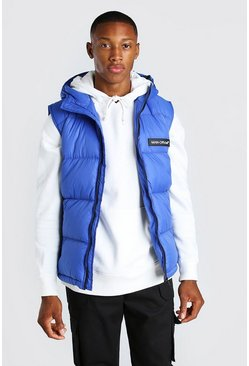 Blue Man Branded Padded Gilet