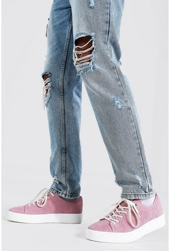 Pink Cord Branded Trainer