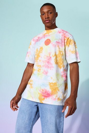 Yellow Tie Dye Drip FaceT-shirt