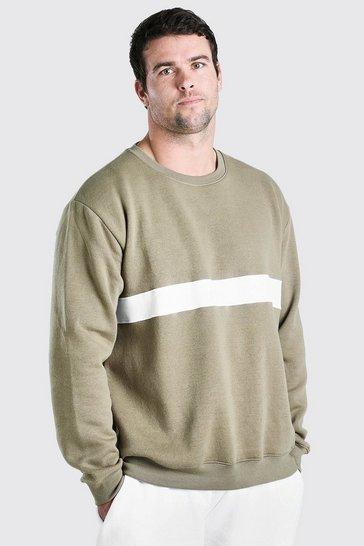Green Big & Tall MAN Signature Colour Block Sweater