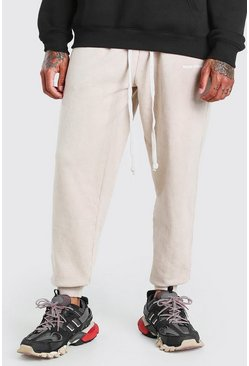 Brown MAN Official Print Acid Wash Loose Fit Jogger