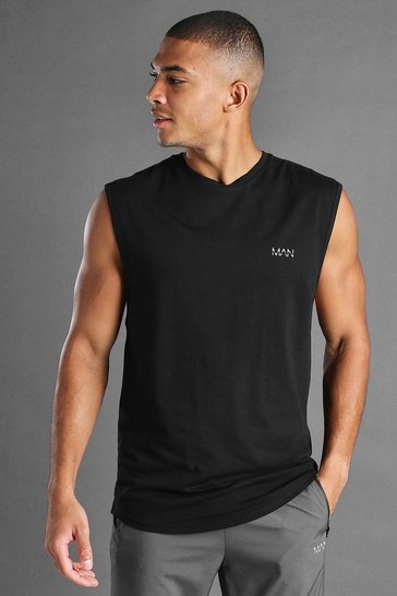 Black Active Gym Racer Tank
