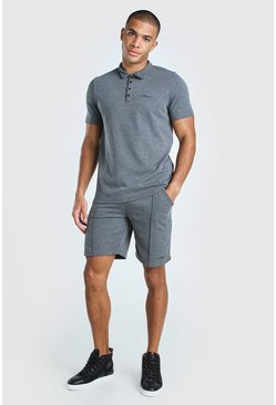 Grey Man Signature Polo & Pintuck Short Set