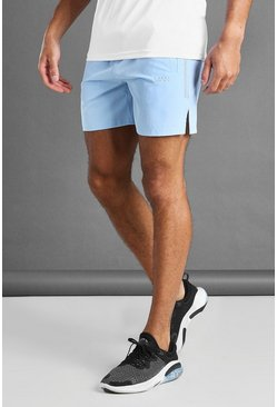 Blue MAN Active Shorts With Split Hem