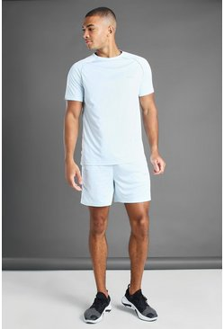 Blue MAN Active Reflective Piping T-Shirt And Short