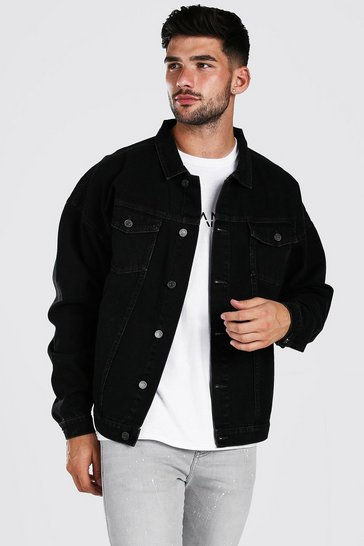 Charcoal grey Oversized Denim Jacket