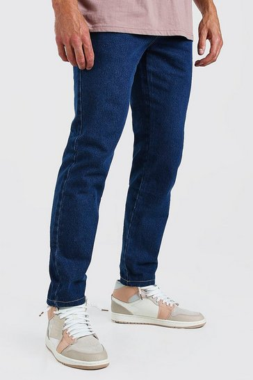 Mid blue blue Slim Rigid Jeans