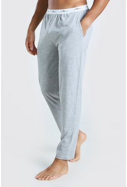 Grey marl grey MAN Signature Waist Lounge Pant