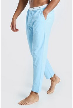 Light blue blue MAN Signature Waist Lounge Pant
