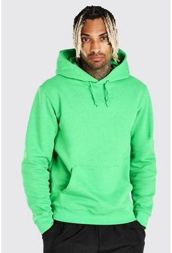 Green Basic Over The Head Hoodie